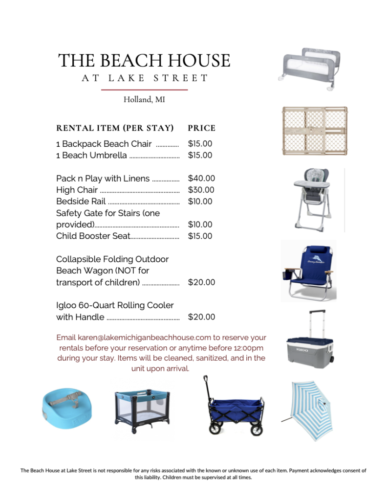 Beach House Rental Items 2